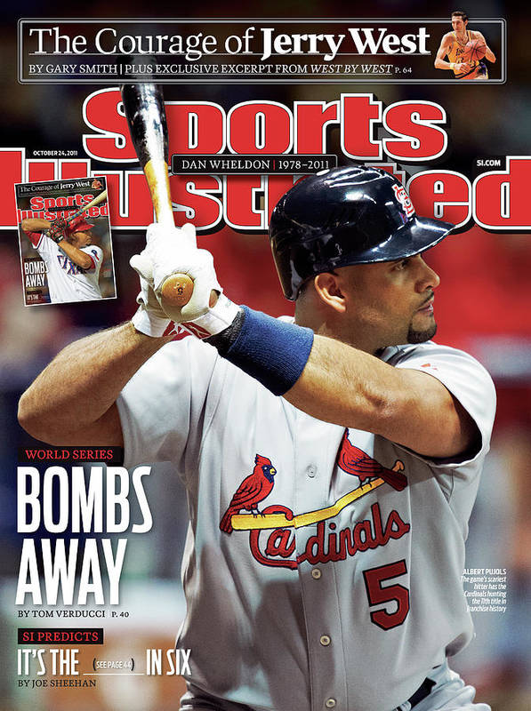 St. Louis Cardinals Poster featuring the photograph St Louis Cardinals V Milwaukee Brewers - Game 6 Sports Illustrated Cover by Sports Illustrated