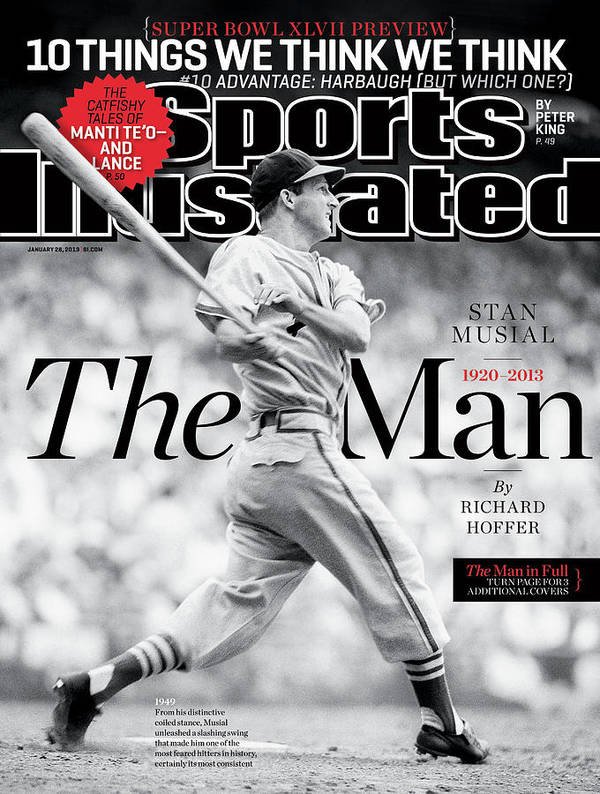 St. Louis Cardinals Poster featuring the photograph Stan Musial, The Man 1920 - 2013 Sports Illustrated Cover by Sports Illustrated