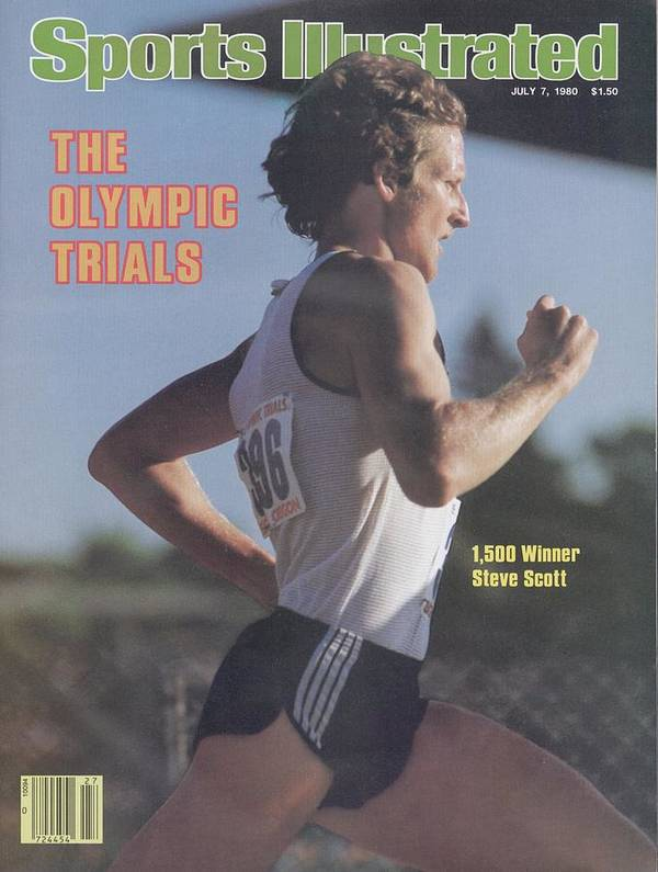 1980-1989 Poster featuring the photograph Steve Scott, 1980 Us Olympic Track & Field Trials Sports Illustrated Cover by Sports Illustrated