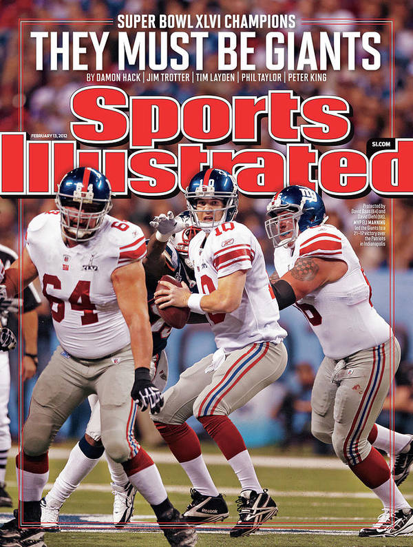 Magazine Cover Poster featuring the photograph Super Bowl Xlvi... Sports Illustrated Cover by Sports Illustrated