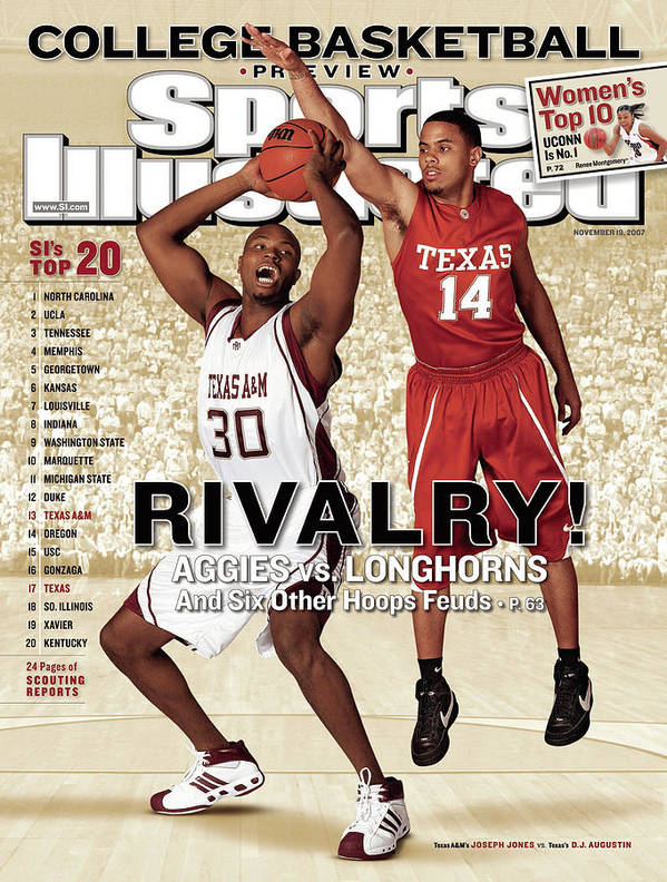 Season Poster featuring the photograph Texas A&m Joseph Jones And University Of Texas D.j Sports Illustrated Cover by Sports Illustrated