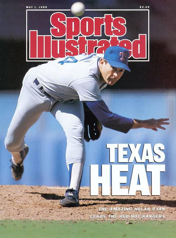 1980-1989 Poster featuring the photograph Texas Rangers Nolan Ryan... Sports Illustrated Cover by Sports Illustrated
