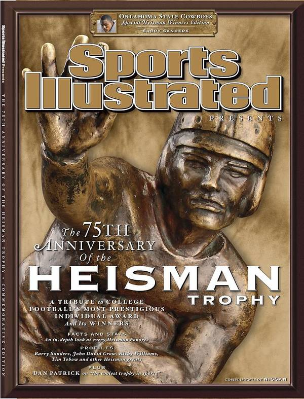 Magazine Cover Poster featuring the photograph The 75th Anniversary Of The Heisman Trophy Issue Sports Illustrated Cover by Sports Illustrated
