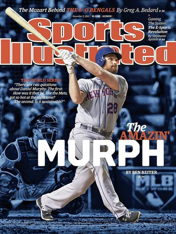 Magazine Cover Poster featuring the photograph The Amazin Murph 2015 World Series Preview Issue Sports Illustrated Cover by Sports Illustrated