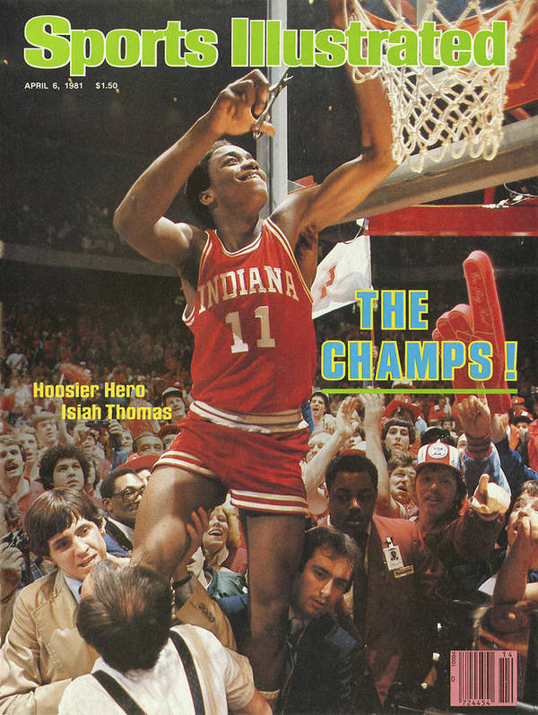 Magazine Cover Poster featuring the photograph The Champs Hoosier Hero Isiah Thomas Sports Illustrated Cover by Sports Illustrated