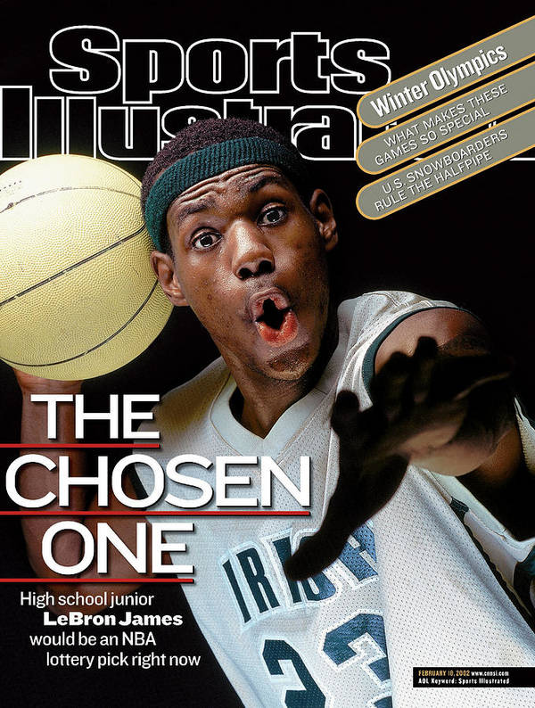 Magazine Cover Poster featuring the photograph The Chosen One St. Vincent-st. Mary High LeBron James Sports Illustrated Cover by Sports Illustrated