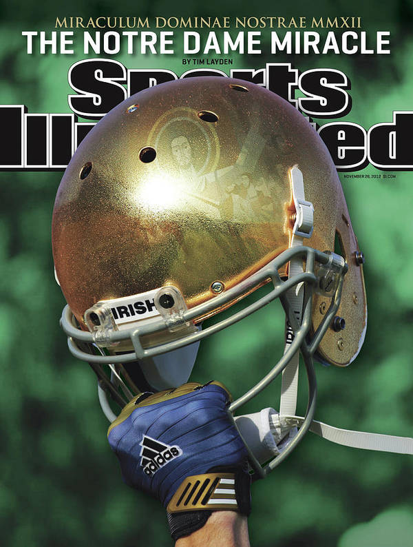 Magazine Cover Poster featuring the photograph The Notre Dame Miracle Sports Illustrated Cover by Sports Illustrated
