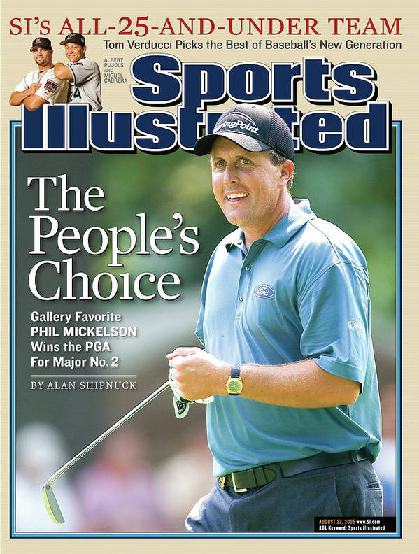 Magazine Cover Poster featuring the photograph The Peoples Choice Gallery Favorite Phil Mickelson Wins The Sports Illustrated Cover by Sports Illustrated