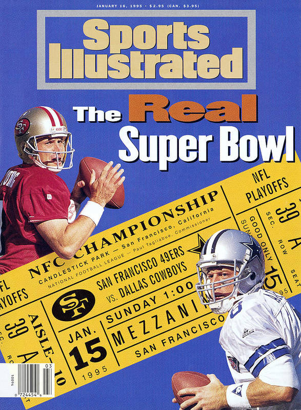 California Poster featuring the photograph The Real Super Bowl, 1995 Nfc Championship Preview Sports Illustrated Cover by Sports Illustrated