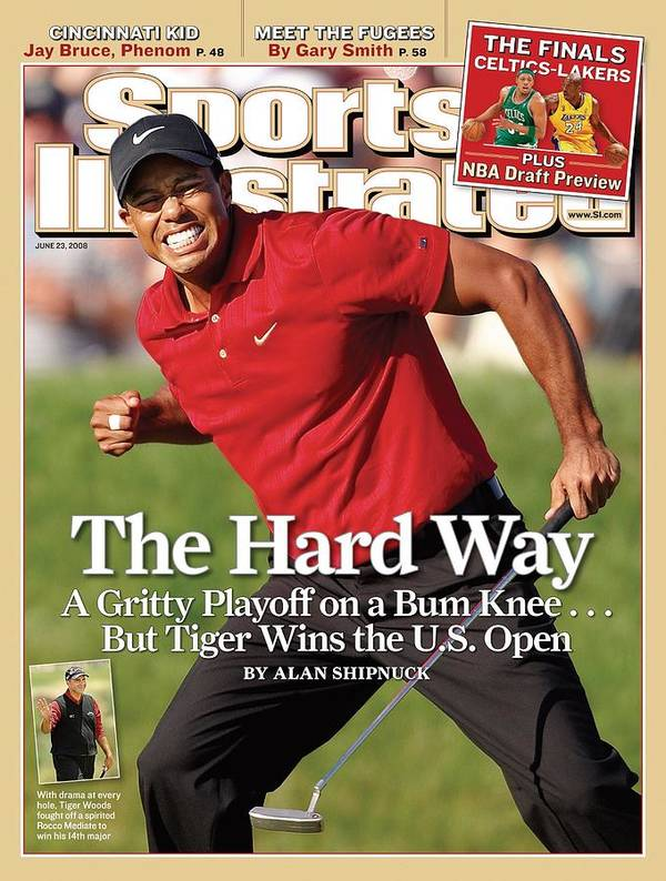 Magazine Cover Poster featuring the photograph Tiger Woods, 2008 Us Open Sports Illustrated Cover by Sports Illustrated