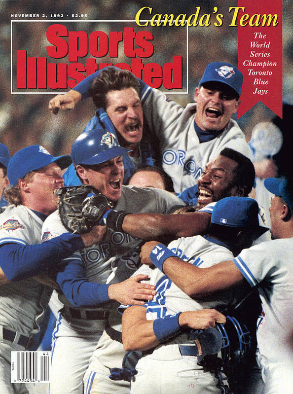 Atlanta Poster featuring the photograph Toronto Blue Jays Joe Carter, 1992 World Series Sports Illustrated Cover by Sports Illustrated