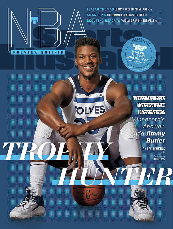 Magazine Cover Poster featuring the photograph Trophy Hunter 2017-18 Nba Basketball Preview Sports Illustrated Cover by Sports Illustrated