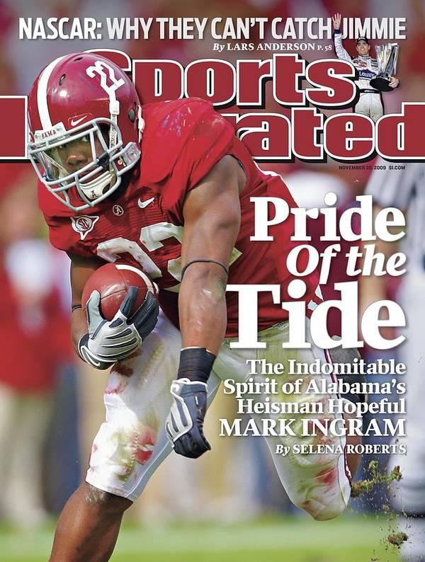 Magazine Cover Poster featuring the photograph University Of Alabama Mark Ingram Sports Illustrated Cover by Sports Illustrated