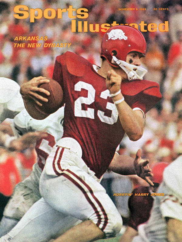 Magazine Cover Poster featuring the photograph University Of Arkansas Harry Jones Sports Illustrated Cover by Sports Illustrated