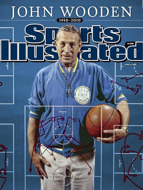 Magazine Cover Poster featuring the photograph University Of California Los Angeles Coach John Wooden Sports Illustrated Cover by Sports Illustrated