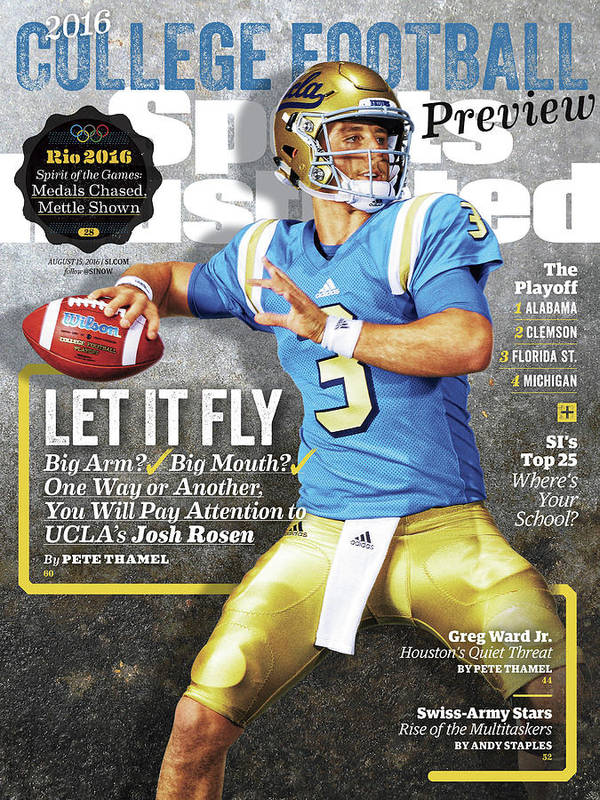Josh Rosen Poster featuring the photograph University Of California Los Angeles Josh Rosen, 2016 Sports Illustrated Cover by Sports Illustrated