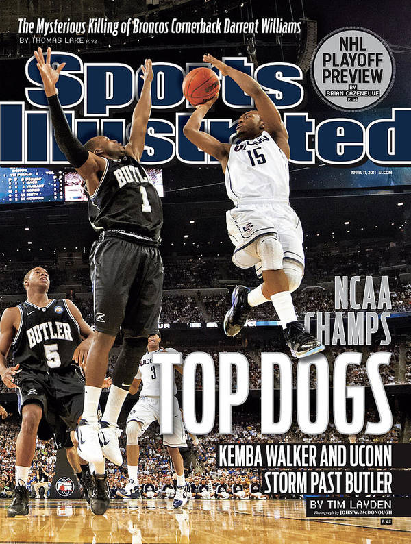 Kemba Walker Poster featuring the photograph University Of Connecticut Vs Butler University, 2011 Ncaa Sports Illustrated Cover by Sports Illustrated