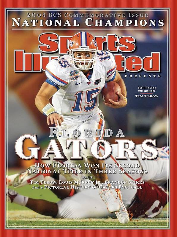 Hard Rock Stadium Poster featuring the photograph University Of Florida Florida Qb Tim Tebow, 2009 Fedex Bcs Sports Illustrated Cover by Sports Illustrated