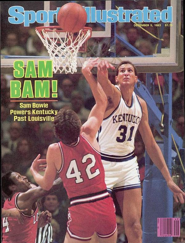 Magazine Cover Poster featuring the photograph University Of Kentucky Sam Bowie Sports Illustrated Cover by Sports Illustrated