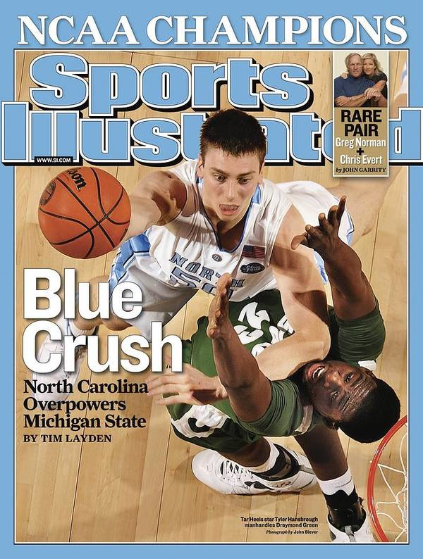 Michigan State University Poster featuring the photograph University Of North Carolina Tyler Hansbrough, 2009 Ncaa Sports Illustrated Cover by Sports Illustrated