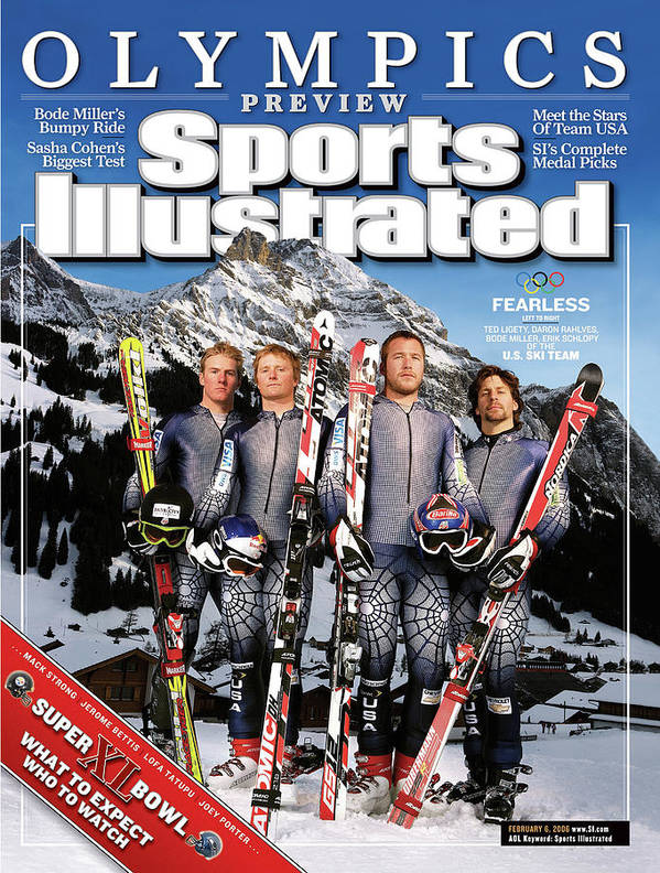 Daron Rahlves Poster featuring the photograph Usa Alpine Ski Team, 2006 Turin Olympic Games Preview Sports Illustrated Cover by Sports Illustrated