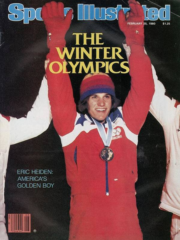 Magazine Cover Poster featuring the photograph Usa Eric Heiden, 1980 Winter Olympics Sports Illustrated Cover by Sports Illustrated