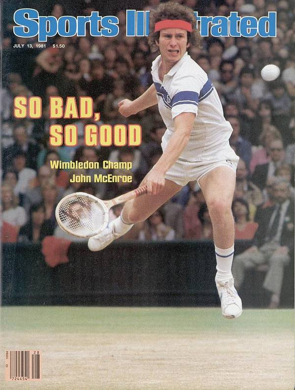 1980-1989 Poster featuring the photograph Usa John Mcenroe, 1981 Wimbledon Sports Illustrated Cover by Sports Illustrated