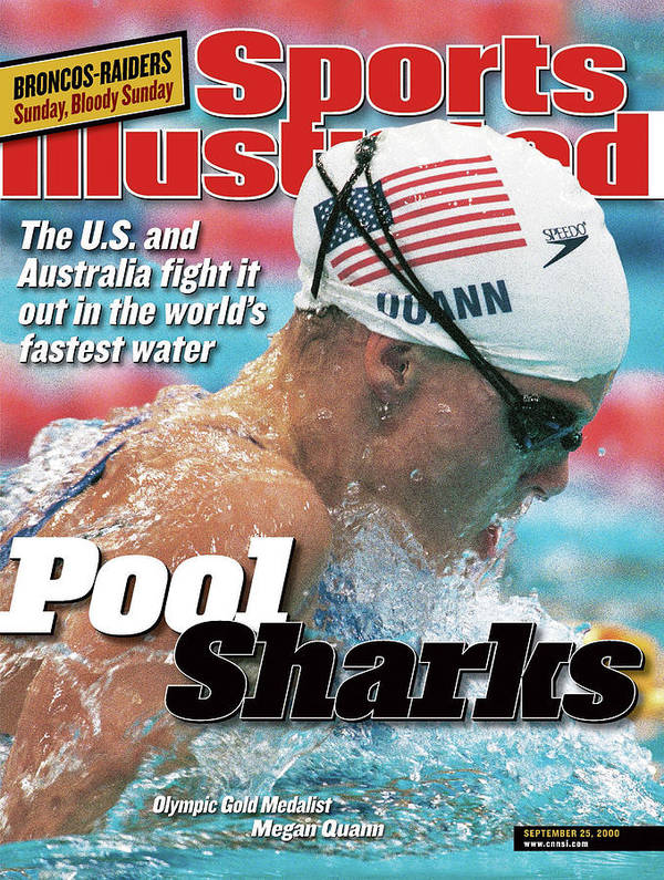 Magazine Cover Poster featuring the photograph Usa Megan Quann, 2000 Summer Olympics Sports Illustrated Cover by Sports Illustrated