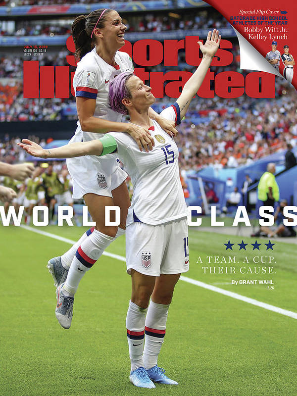 Magazine Cover Poster featuring the photograph Usa Vs Netherlands, 2019 Fifa Womens World Cup Final Sports Illustrated Cover by Sports Illustrated