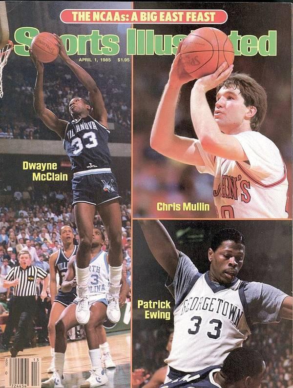 Magazine Cover Poster featuring the photograph Villanova University Dwayne Mcclain, St. Johns University Sports Illustrated Cover by Sports Illustrated