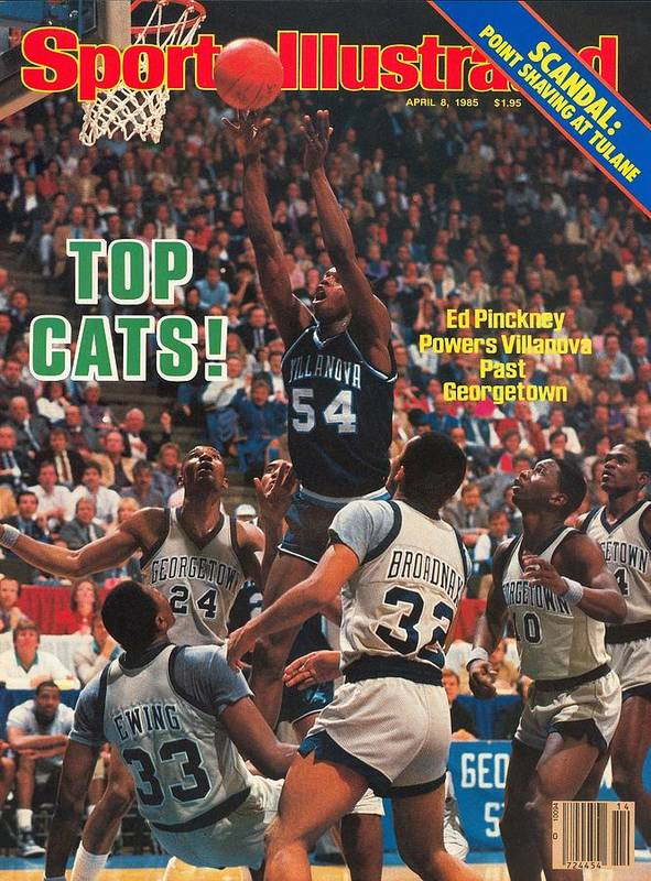 1980-1989 Poster featuring the photograph Villanova University Ed Pinckney, 1985 Ncaa National Sports Illustrated Cover by Sports Illustrated