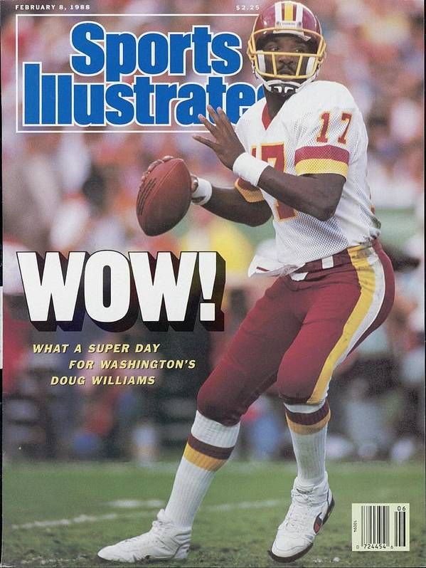 1980-1989 Poster featuring the photograph Washington Redskins Doug Williams, Super Bowl Xxii Sports Illustrated Cover by Sports Illustrated