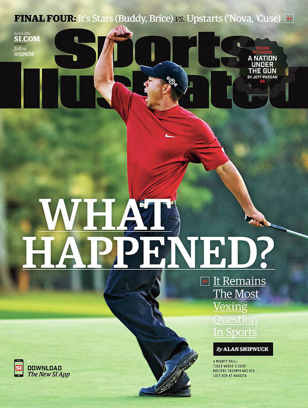 Magazine Cover Poster featuring the photograph What Happened It Remains The Most Vexing Question In Sports Sports Illustrated Cover by Sports Illustrated