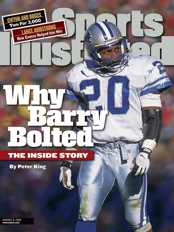 Green Bay Poster featuring the photograph Why Barry Bolted The Inside Story Sports Illustrated Cover by Sports Illustrated