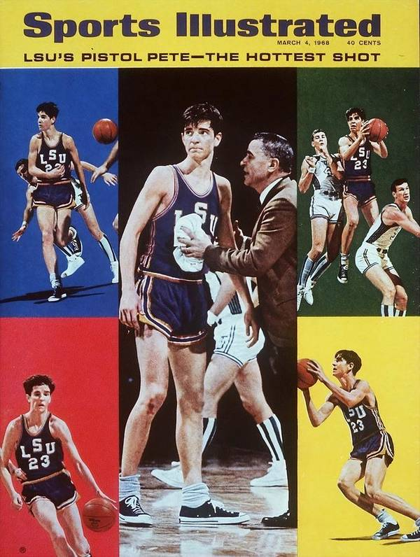 Magazine Cover Poster featuring the photograph Lsu Pete Maravich Sports Illustrated Cover by Sports Illustrated