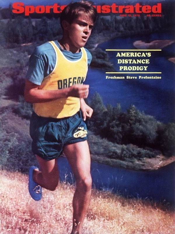Magazine Cover Poster featuring the photograph Oregon Steve Prefontaine Sports Illustrated Cover by Sports Illustrated