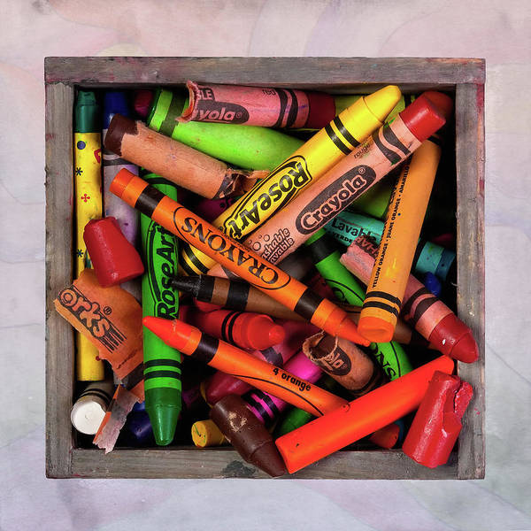 Crayon Poster featuring the photograph Art In A Box by Tom Mc Nemar