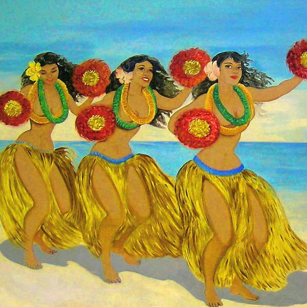 Hula Poster featuring the digital art Moloka'i Hula by James Temple