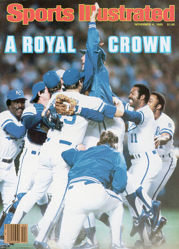 St. Louis Cardinals Poster featuring the photograph A Royal Crown 1985 World Series Sports Illustrated Cover by Sports Illustrated