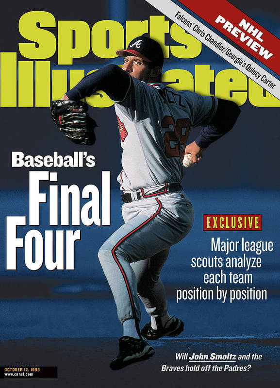 Candlestick Park Poster featuring the photograph Baseballs Final Four Will John Smoltz And The Braves Hold Sports Illustrated Cover by Sports Illustrated