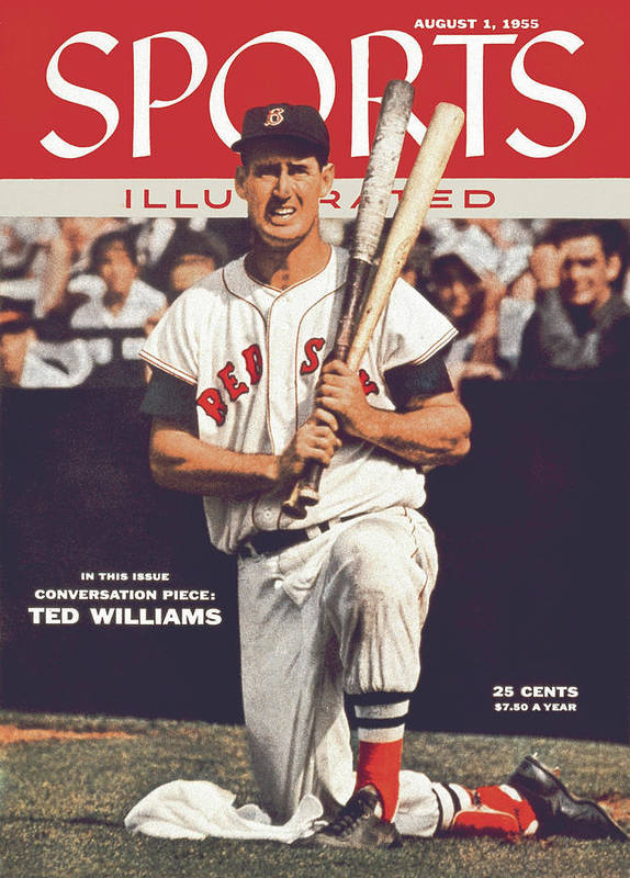 Magazine Cover Poster featuring the photograph Boston Red Sox Ted Williams... Sports Illustrated Cover by Sports Illustrated