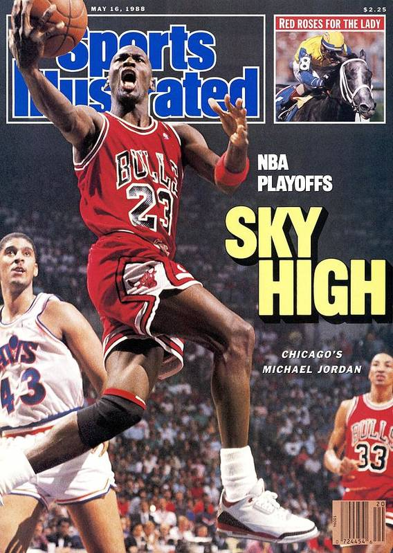 Playoffs Poster featuring the photograph Chicago Bulls Michael Jordan, 1988 Nba Eastern Conference Sports Illustrated Cover by Sports Illustrated