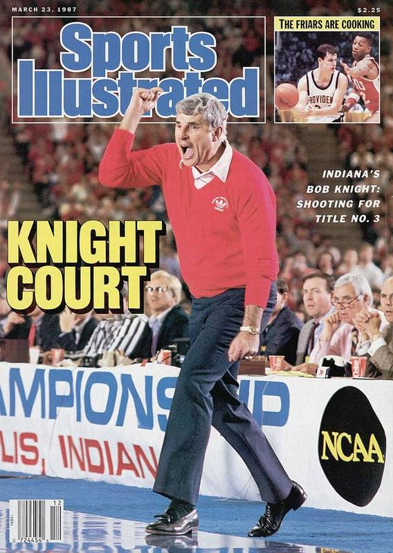 Magazine Cover Poster featuring the photograph Indiana University Coach Bob Knight, 1987 Ncaa Midwest Sports Illustrated Cover by Sports Illustrated