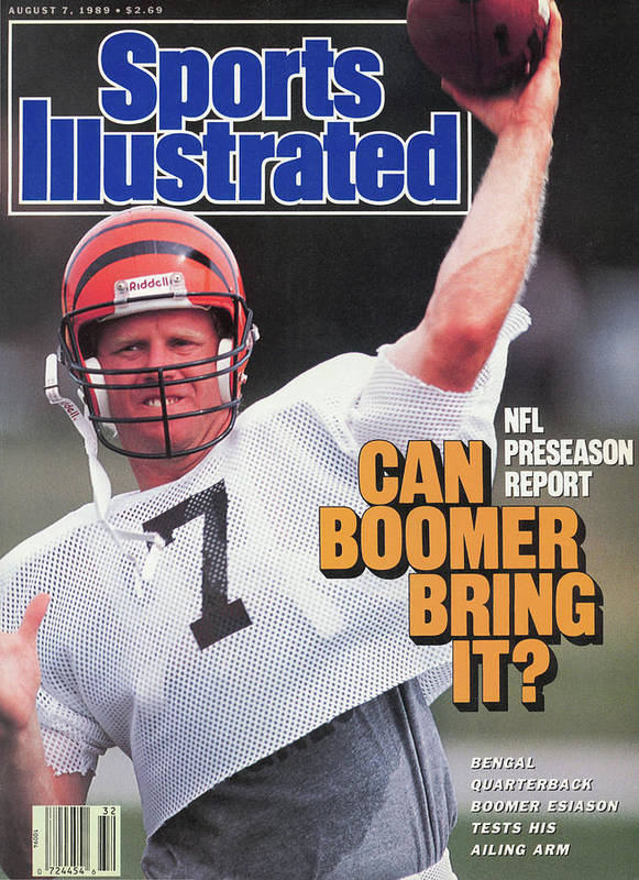 Magazine Cover Poster featuring the photograph Nfl Preseason Report Can Boomer Bring It Sports Illustrated Cover by Sports Illustrated
