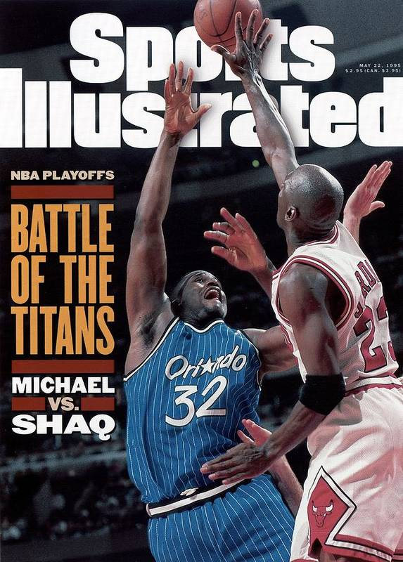 Playoffs Poster featuring the photograph Orlando Magic Shaquille Oneal, 1995 Nba Eastern Conference Sports Illustrated Cover by Sports Illustrated