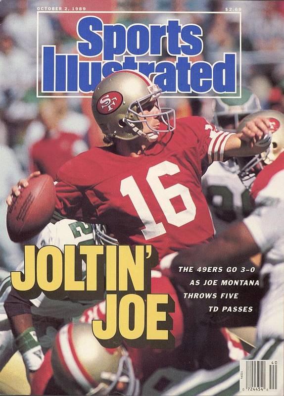 Magazine Cover Poster featuring the photograph San Francisco 49ers Qb Joe Montana... Sports Illustrated Cover by Sports Illustrated