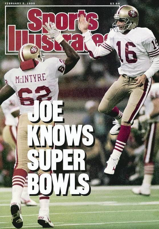 Magazine Cover Poster featuring the photograph San Francisco 49ers Qb Joe Montana, Super Bowl Xxiv Sports Illustrated Cover by Sports Illustrated