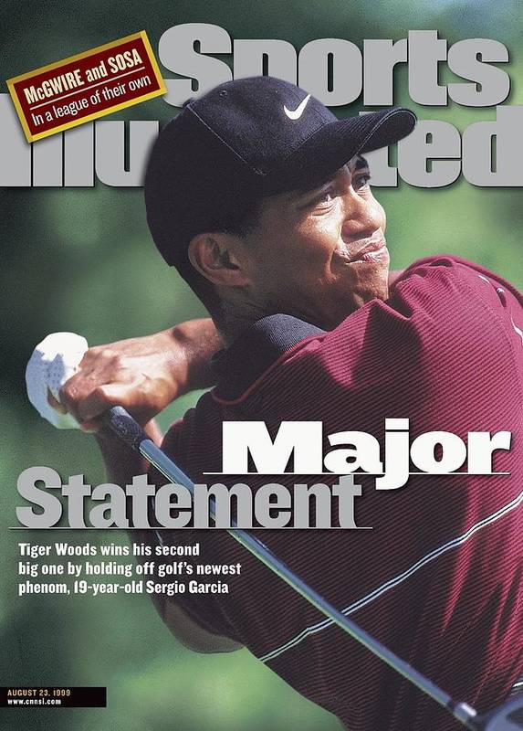 Magazine Cover Poster featuring the photograph Tiger Woods, 1999 Pga Championship Sports Illustrated Cover by Sports Illustrated