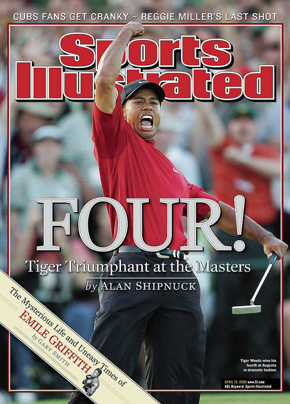 Magazine Cover Poster featuring the photograph Tiger Woods, 2005 Masters Sports Illustrated Cover by Sports Illustrated