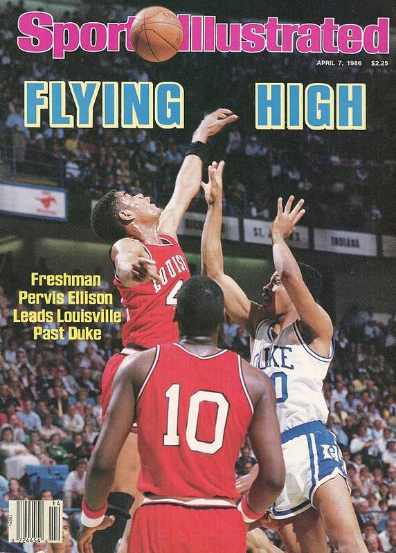 1980-1989 Poster featuring the photograph University Of Louisville Pervis Ellison, 1986 Ncaa National Sports Illustrated Cover by Sports Illustrated